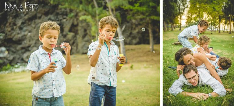 enfants qui jouent session photo