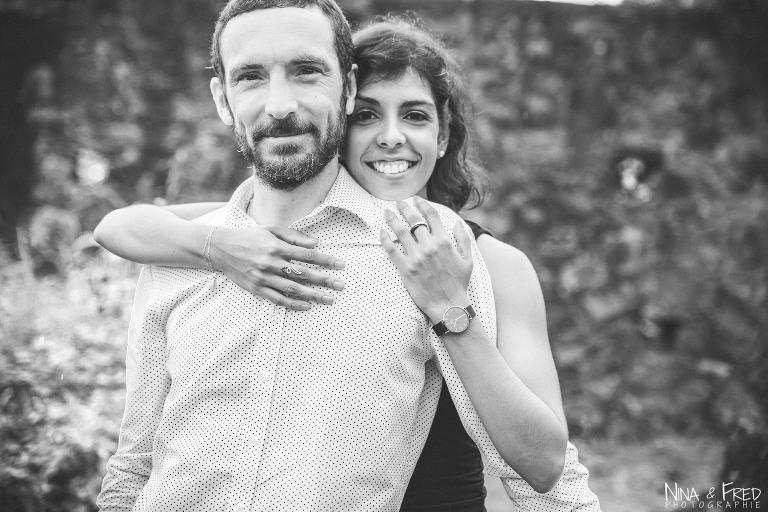 photo couple en noir et blanc S&L