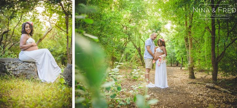 photo grossesse dans la forêt