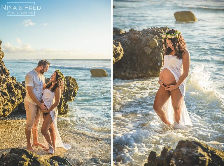 photographie de grossesse J&F plage