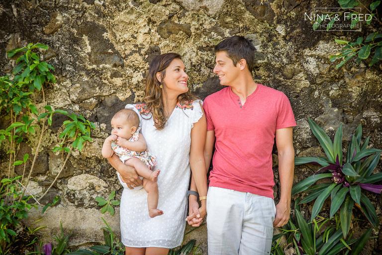 shooting famille 974 avec bébé F&L