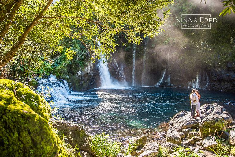 séance photo couple Réunion cascade A&G