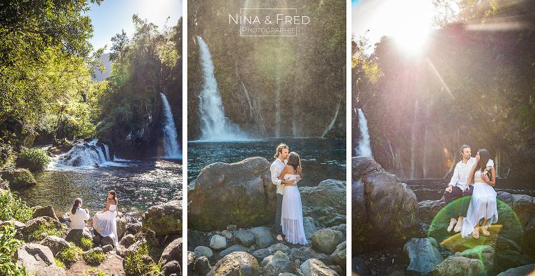 photos d'engagement mariage A&G cascade