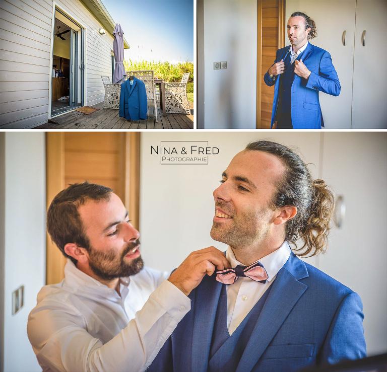 photographies préparatifs du marié A&G