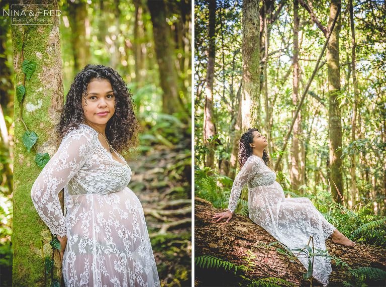 photo femme enceinte 974 jungle tropicale C&A