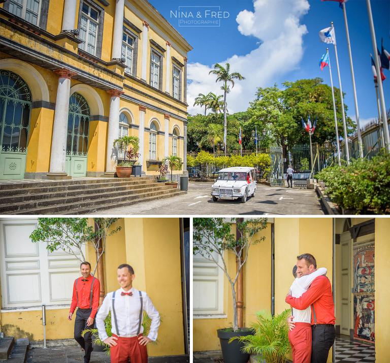 mariage de C&T à la Réunion mairie
