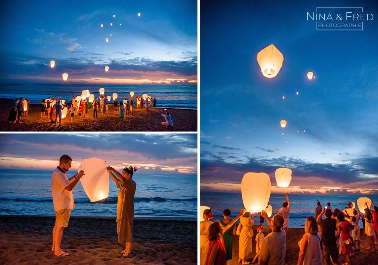 lacher de lanternes mariage C&N