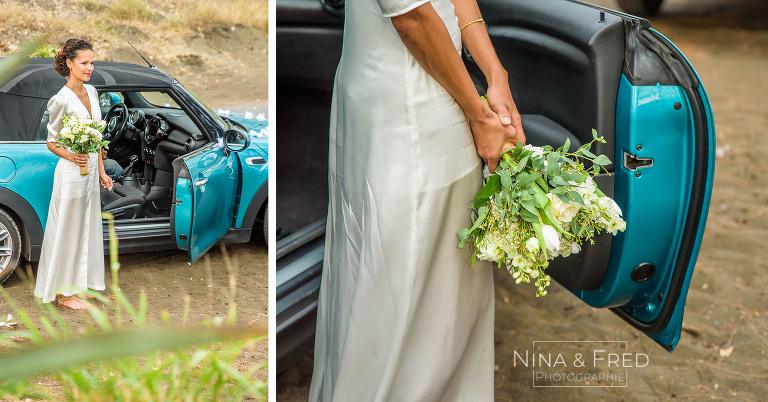 mariée et son bouquet C&N
