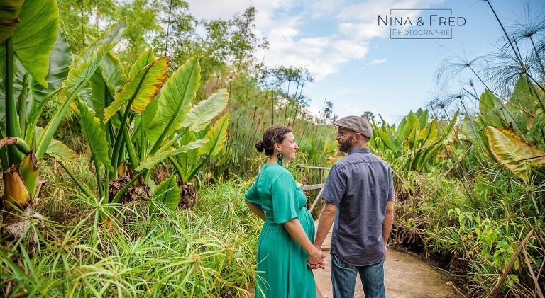photographie couple grossesse lifestyle Jardin d'Eden A&R