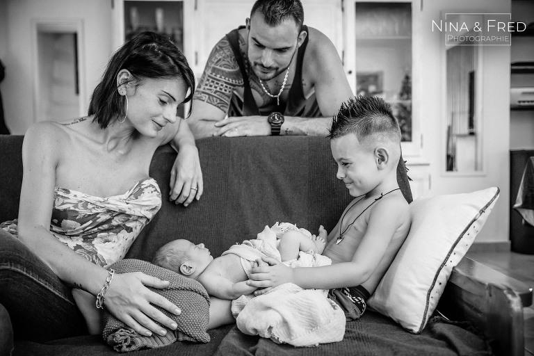 photographie naissance domicile Réunion Sandro