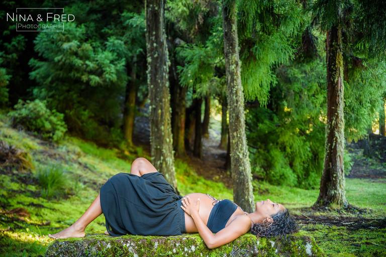 photo grossesse forêt du volcan Réunion E&D