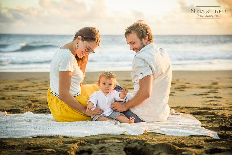photo famille plage J&H19