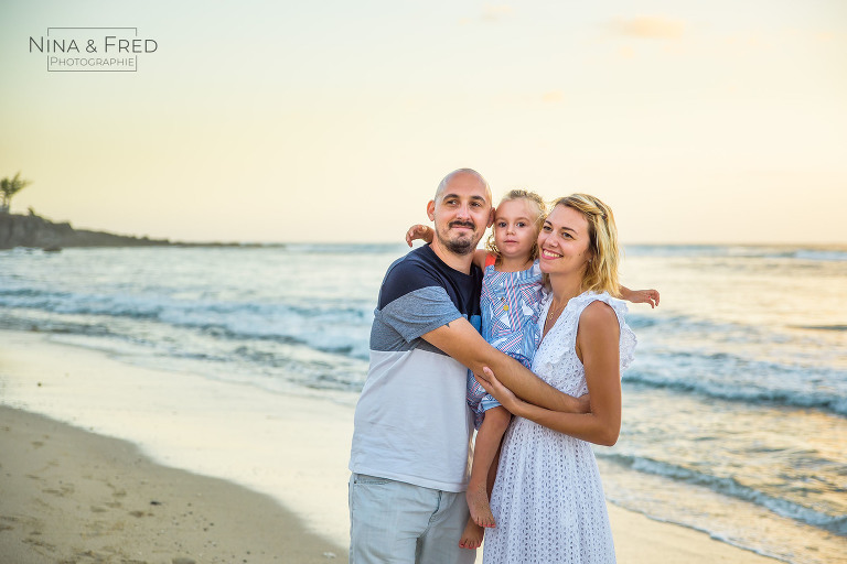 shooting famille plage 974 F&A