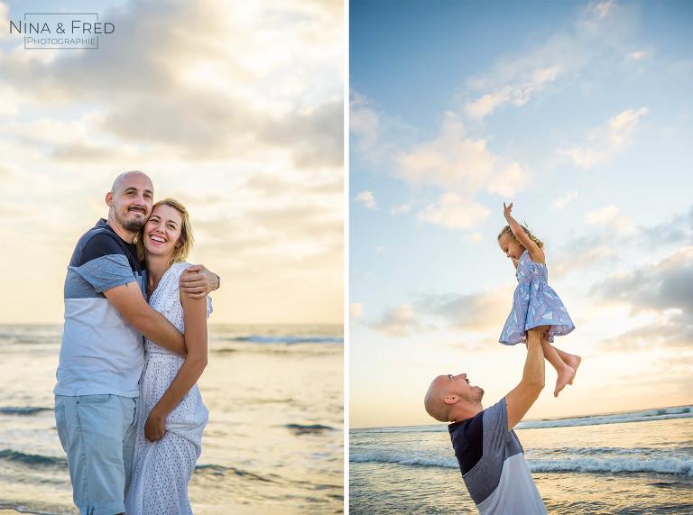 séance photo en famille sur la plage F&A