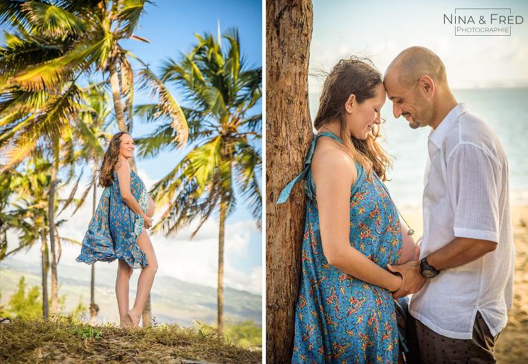 shooting grossesse plage Réunion S&E