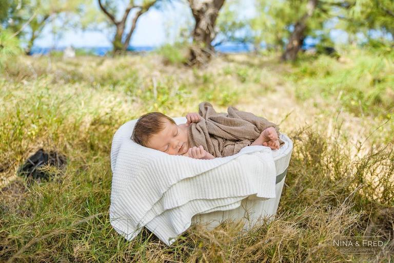 seance photo naissance Réunion bébé A&J&J