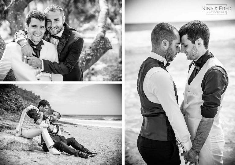 shooting couple mariage gay Réunion
