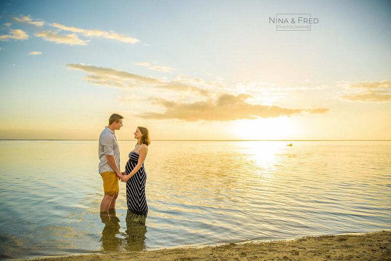 photographie grossesse coucher de soleil J&N19