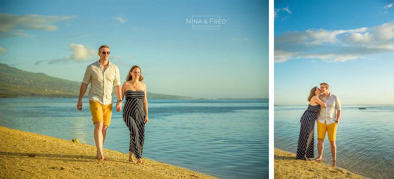 shooting couple plage 974 J&N19