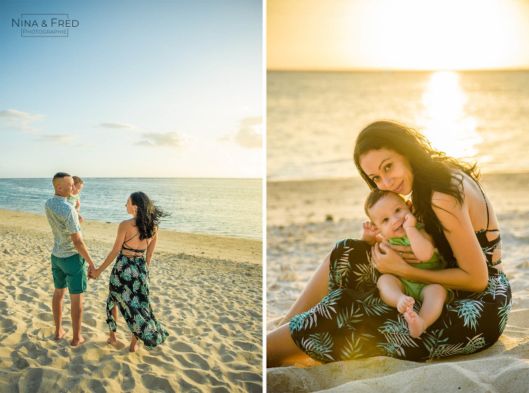 photos de famille île de la Réunion Y&G&A
