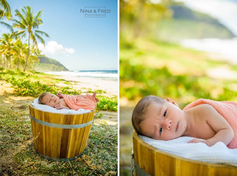 photos naissance Réunion plage L&J&F