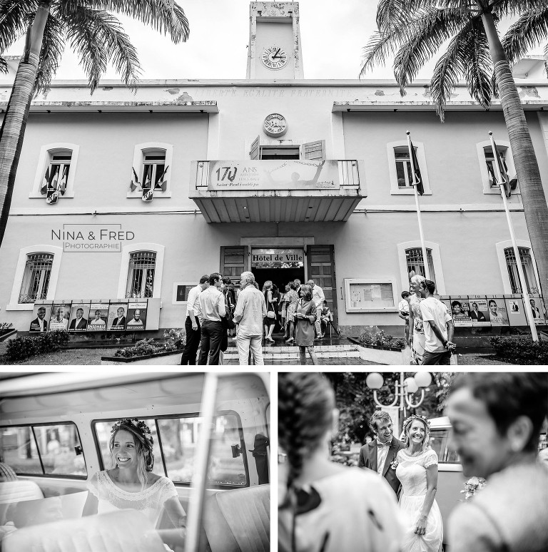 photo mariage mairie st paul E&N20