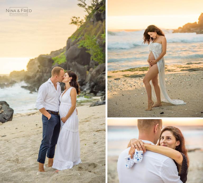 photos de grossesse de C&R-20 sur la plage