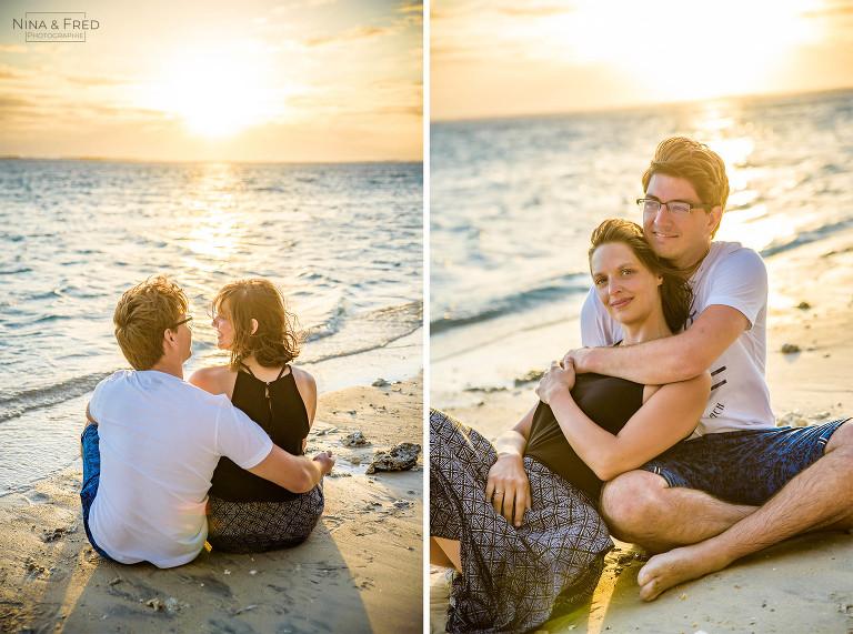 photos en amoureux M&G19 plage Réunion