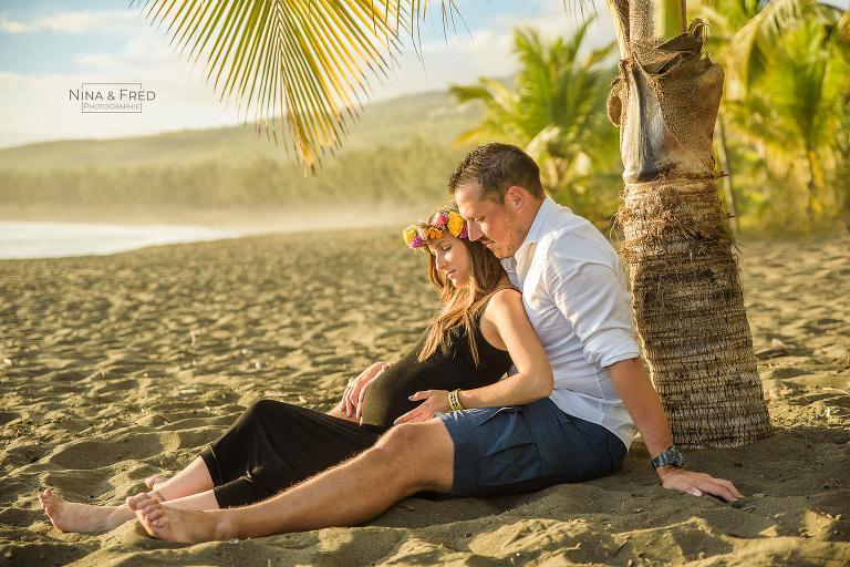 session couple grossesse plage 974 C&F-2020